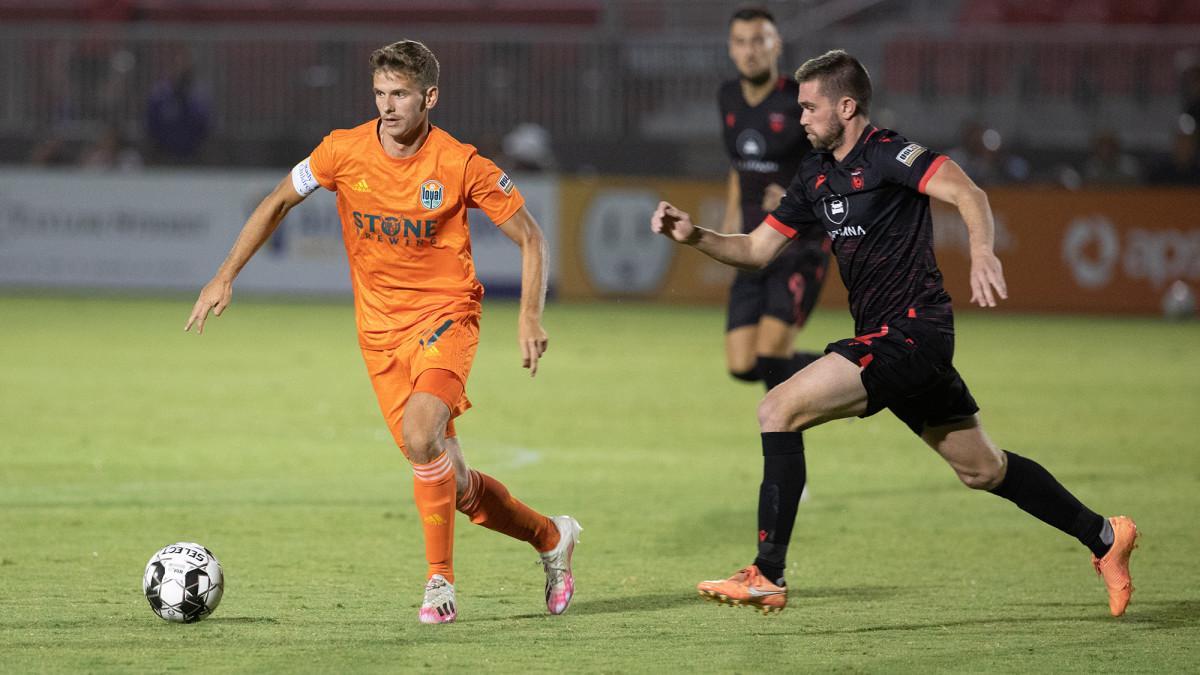 San Diego Loyal midfielder Collin Martin