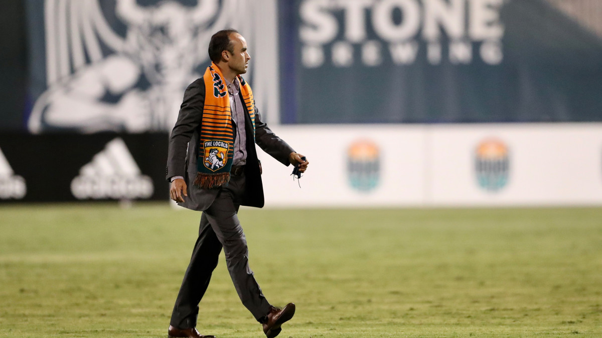 San Diego Loyal manager Landon Donovan