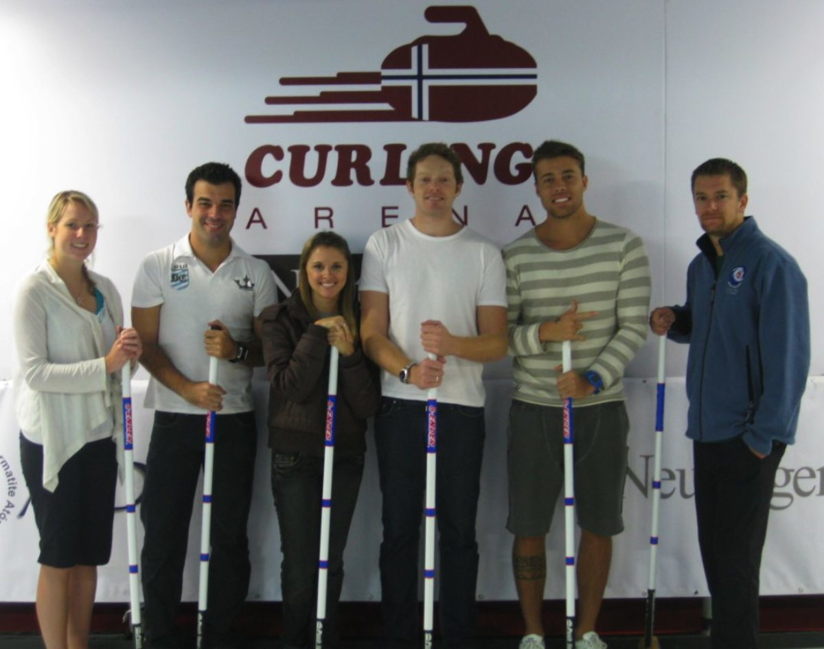 Hollie, Brian and Brasil's new curling instructors