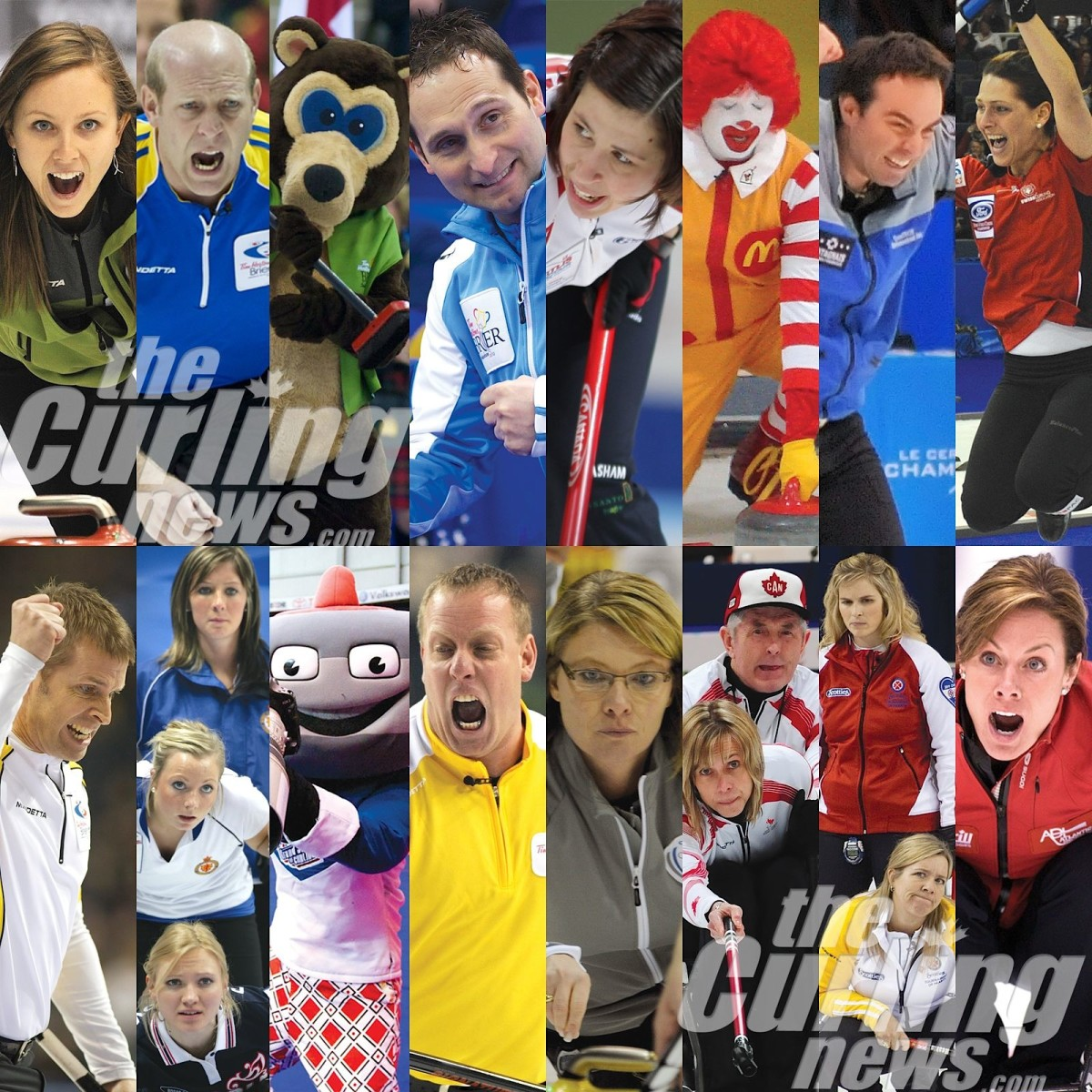 So many curling faces... so little contest time