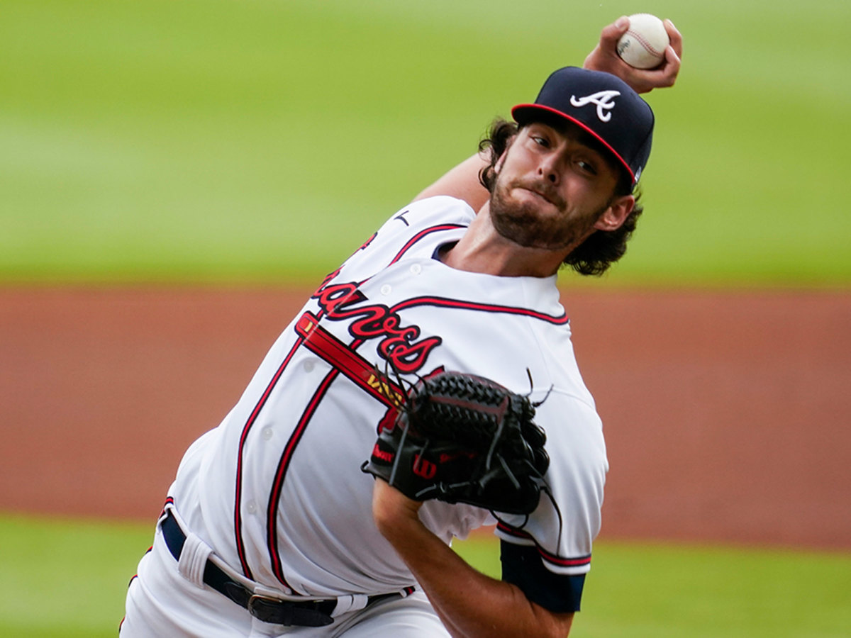 Ian Anderson throws a pitch