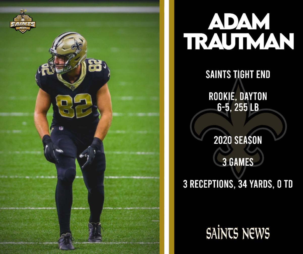 Saints Tight End, Adam Trautman