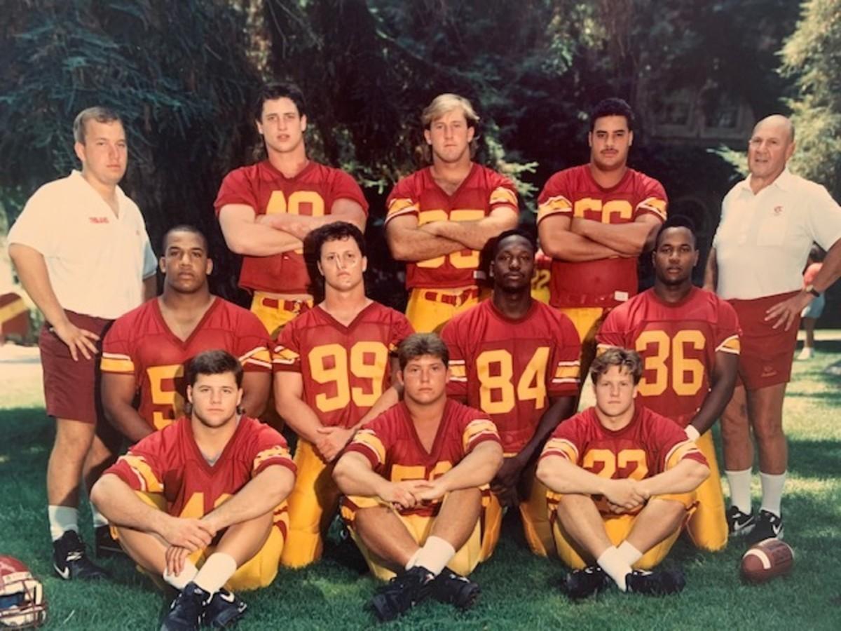 Wilson (middle row, far left), alongside Gee (top left), coach Roggeman (far right) and Ross (top, center).