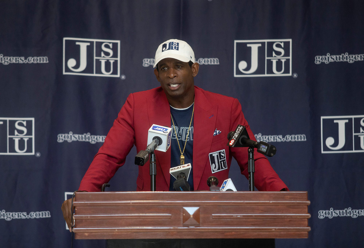 Deion Sanders is introduced at Jackson State