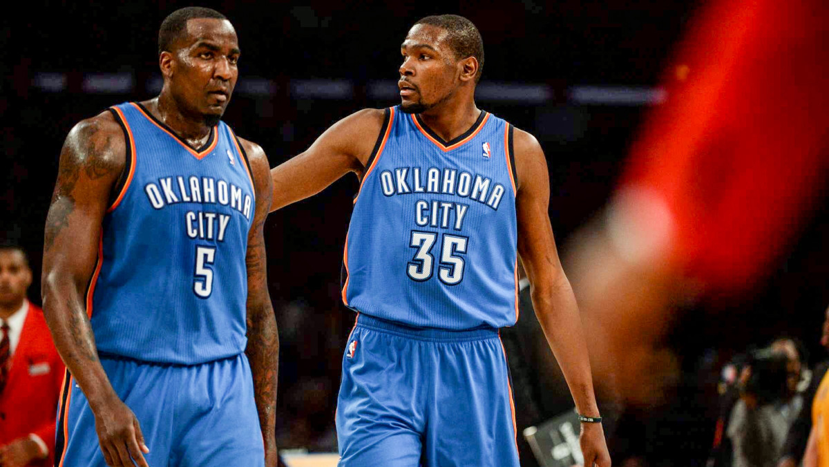 Perkins and Durant were teammates for four-and-a-half seasons in OKC.