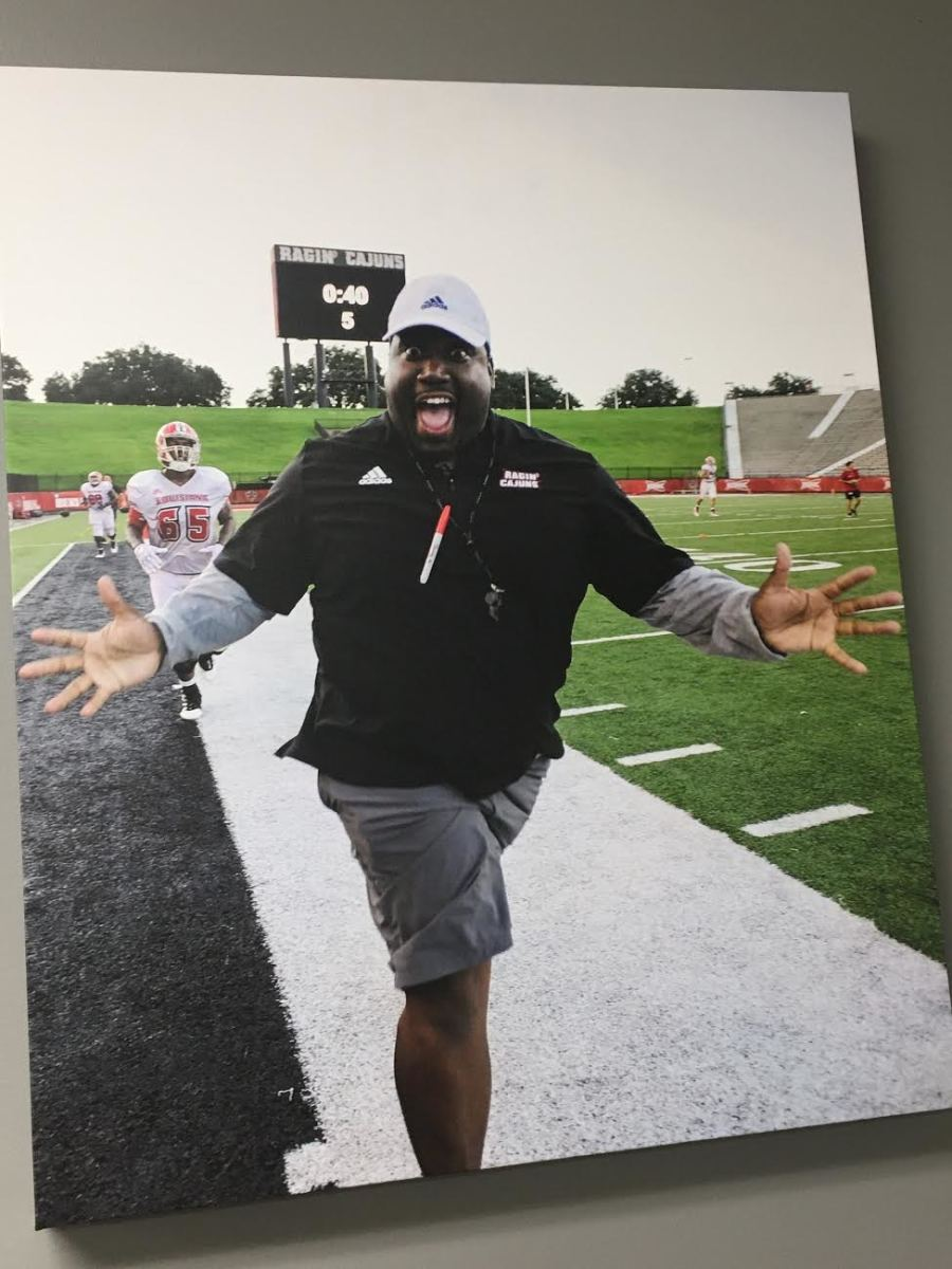Louisiana assistant DJ Looney, who died this summer