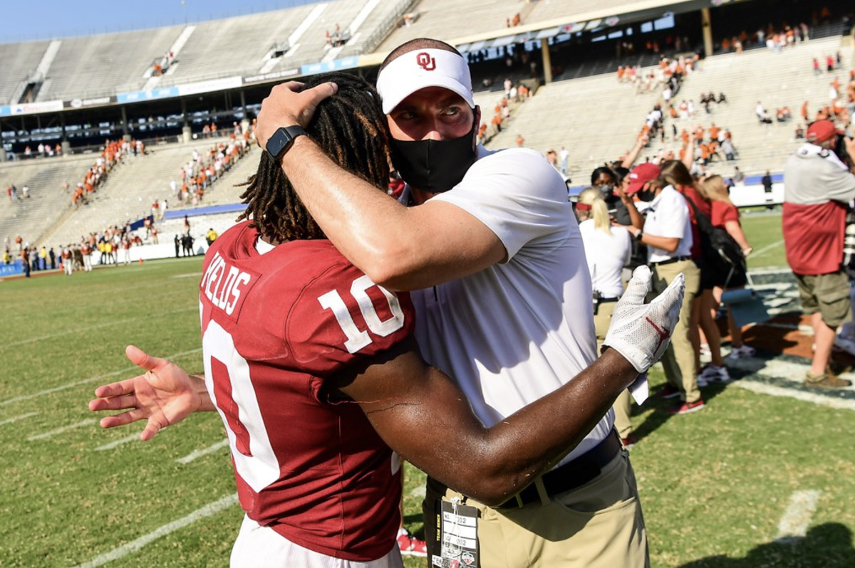 Alex Grinch and Pat Field after beating Texas