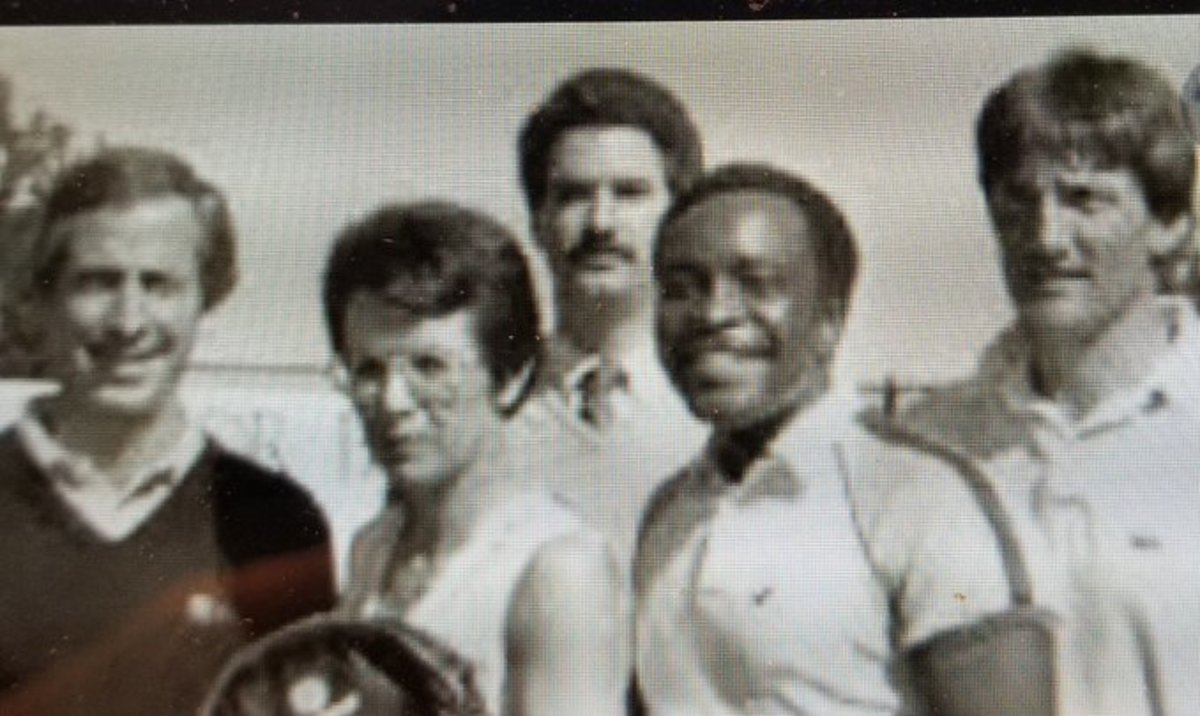 Andy Dolich, Billie Jean King, Steve Page, Joe Morgan and Roy Eisenhardt brought the Oakland Aces to the World Tennis Association in 1985-86.