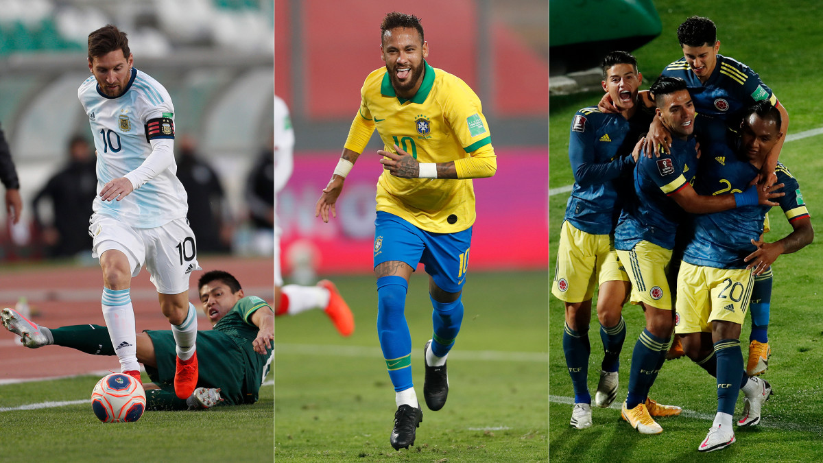Argentina, Brazil and Colombia secure World Cup qualifying points