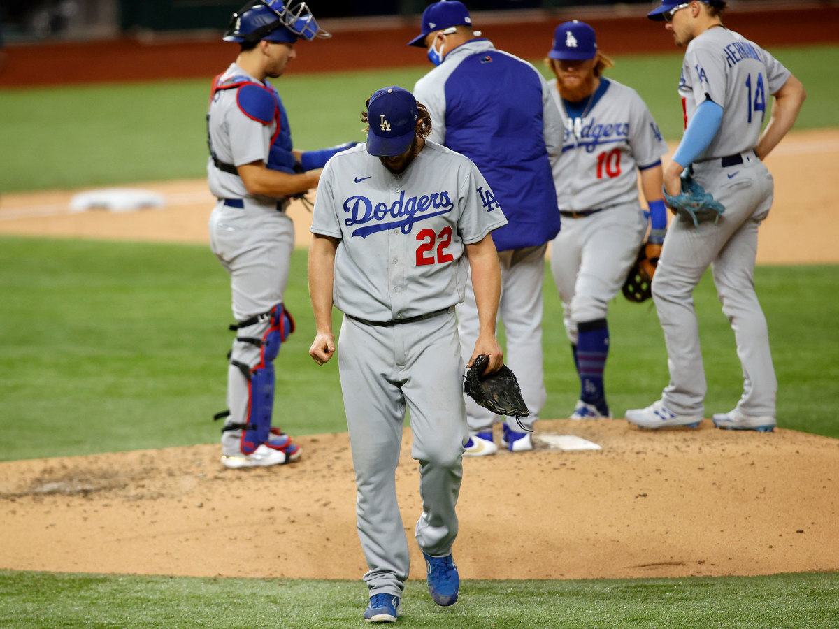 Clayton Kershaw exits the game