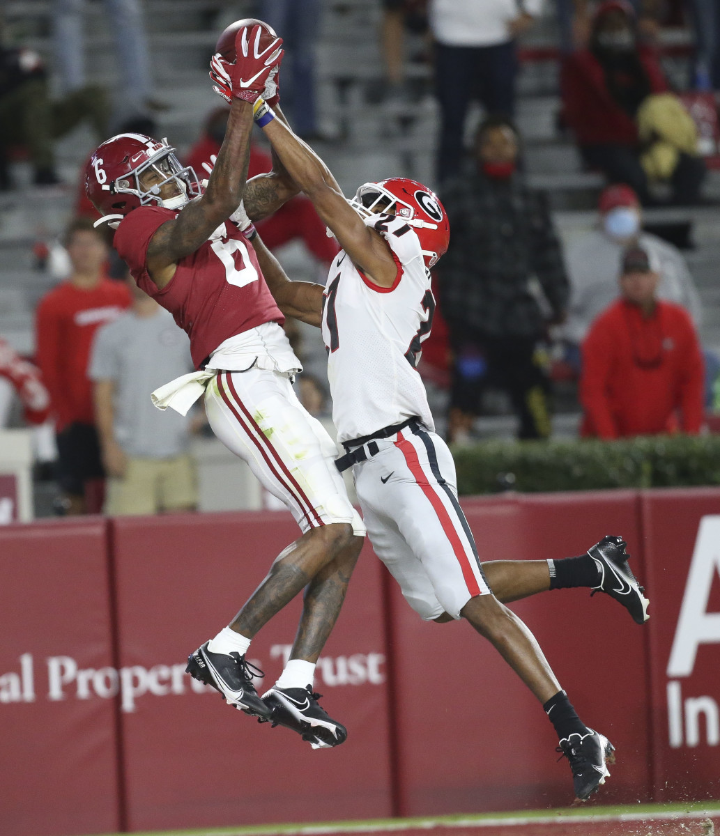 Devonta Smith touchdown catch Georgia