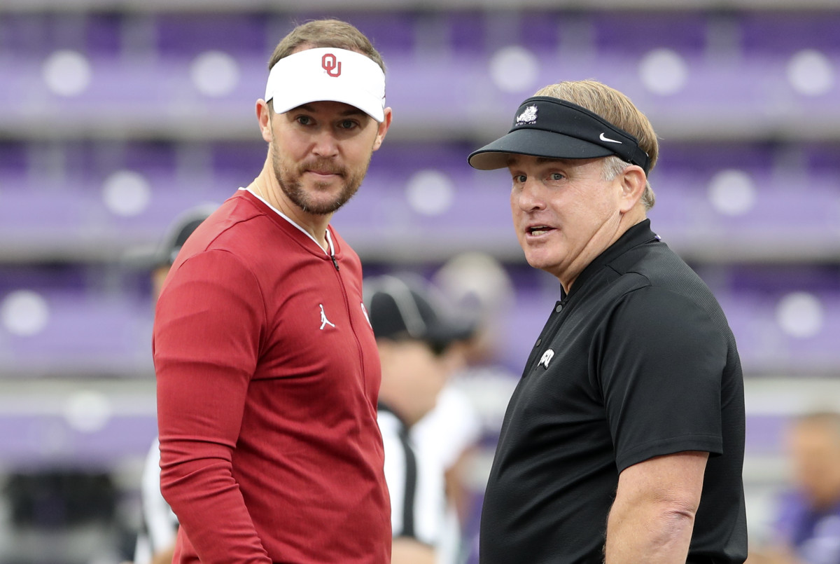Lincoln Riley and Gary Patterson