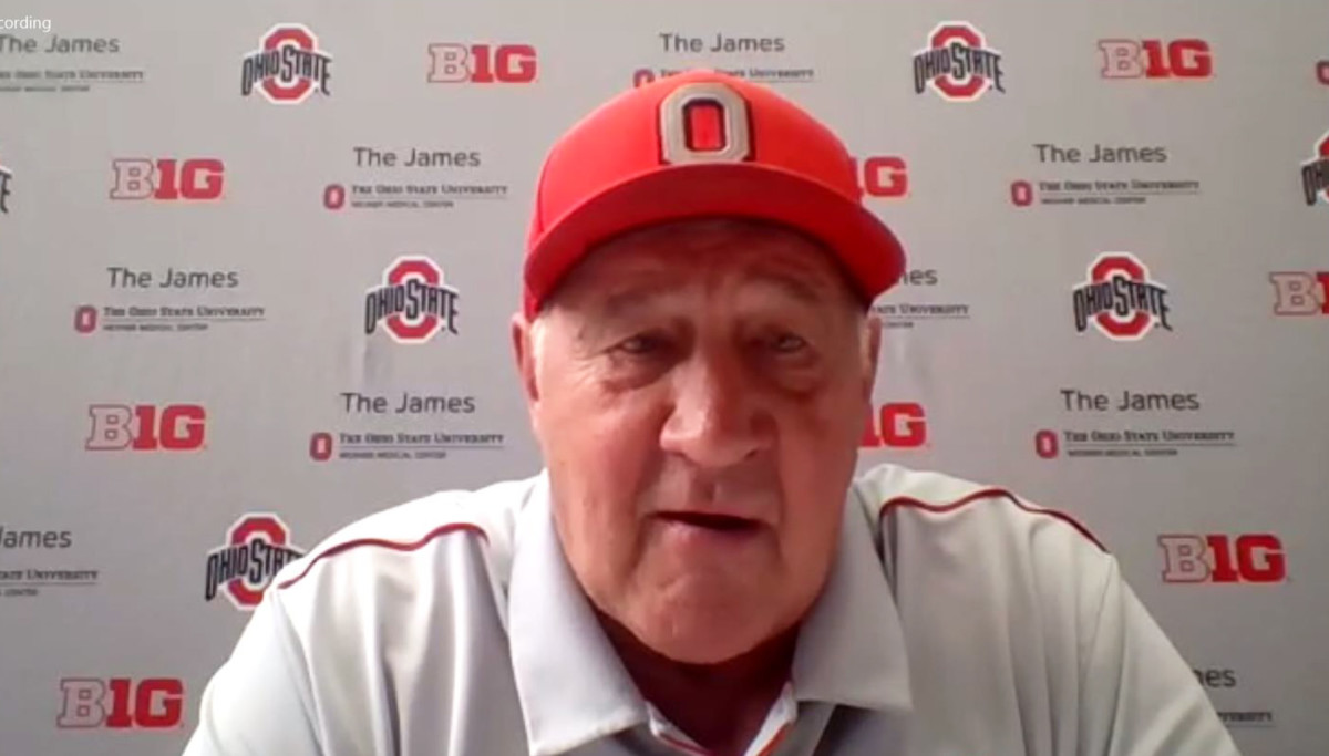 Greg Mattison is excited to coach from upstairs this year.