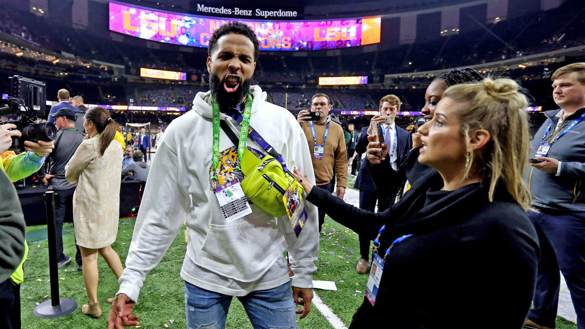 Odell Beckham Jr. at the national championship in January