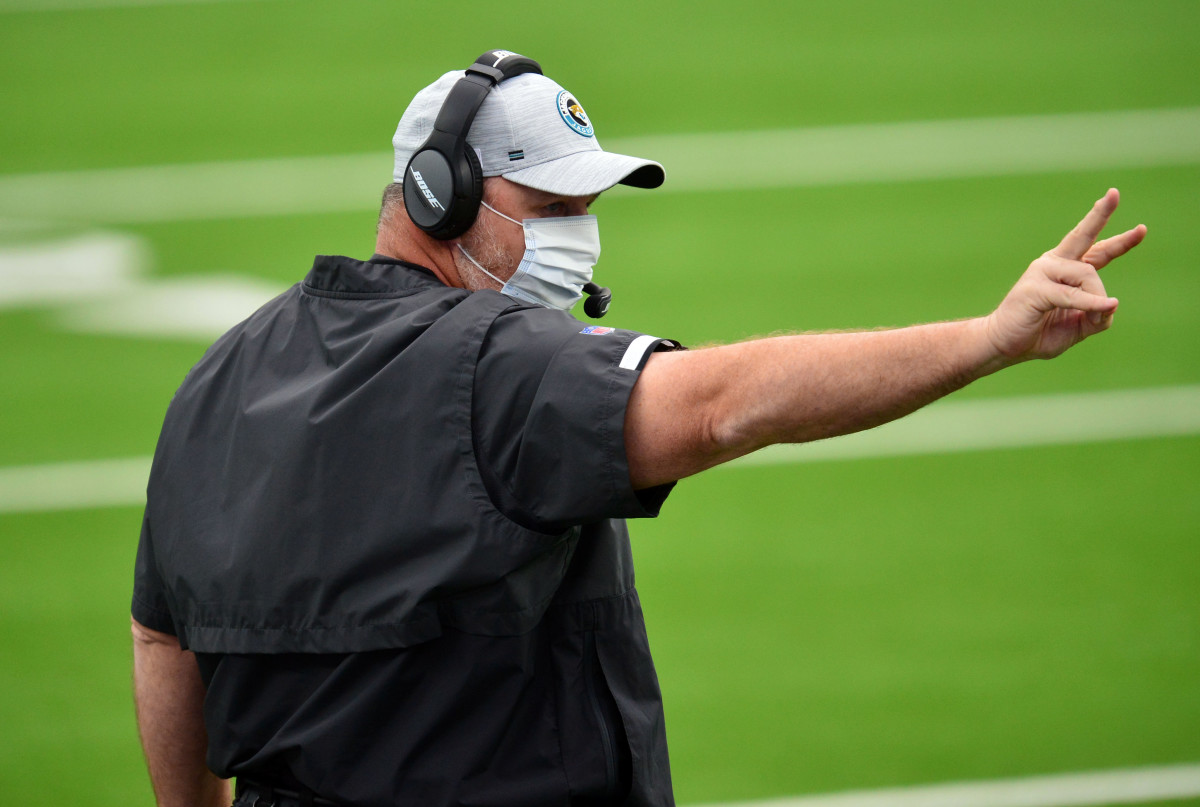 Marrone called for three 2-point conversion attempts.Mandatory Credit: Gary A. Vasquez-USA TODAY Sports