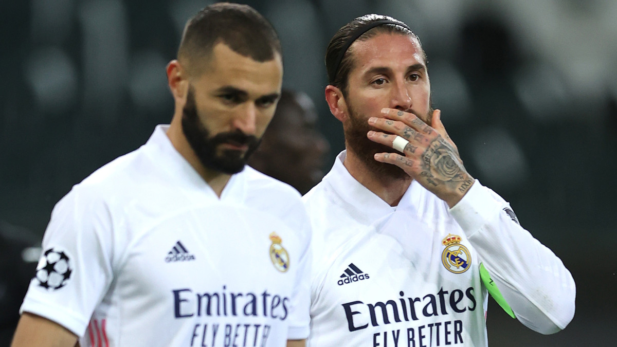 Karim Benzema, Sergio Ramos and Real Madrid are in trouble in the Champions League