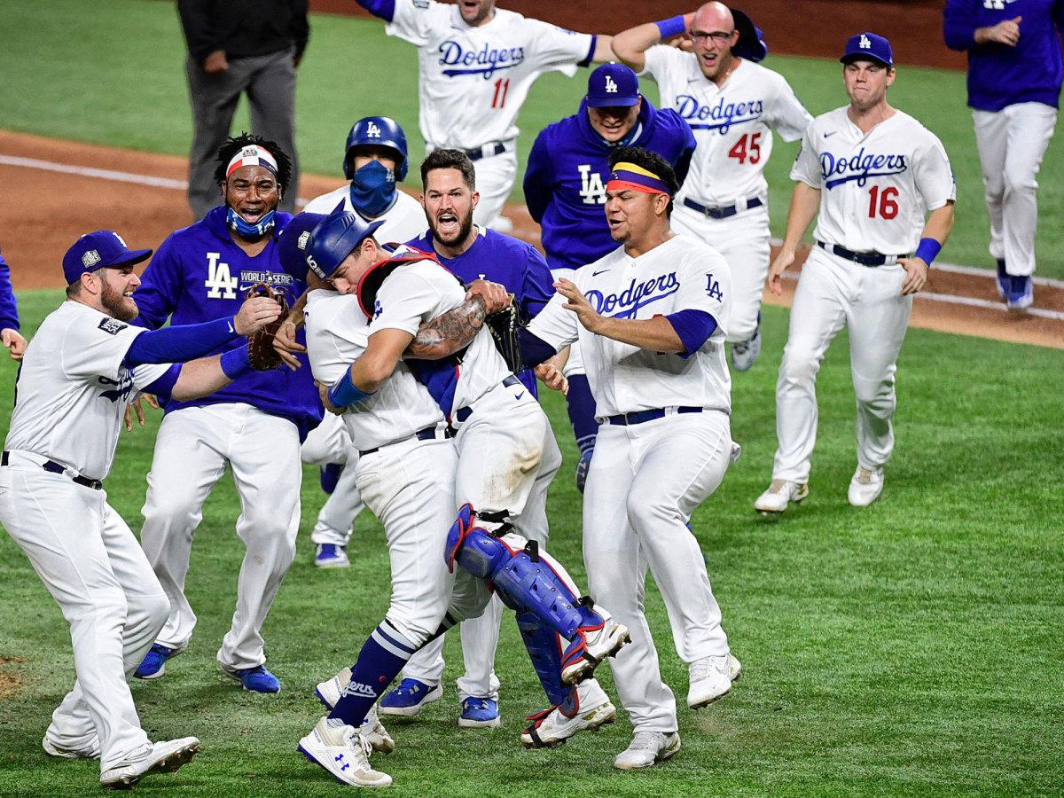 Dodgers celebrate winning it all