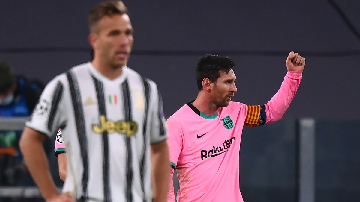 Lionel Messi and Barcelona beat Juventus in Champions League
