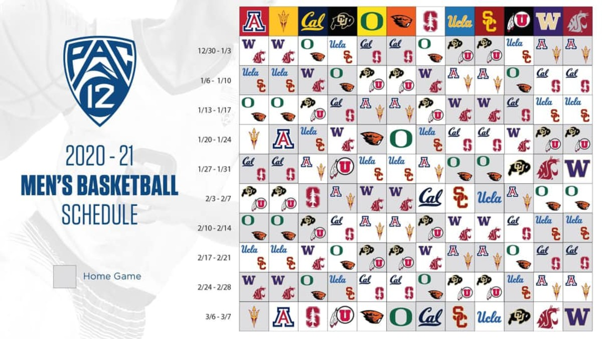 2020-21 Pac-12 Basketball Schedule