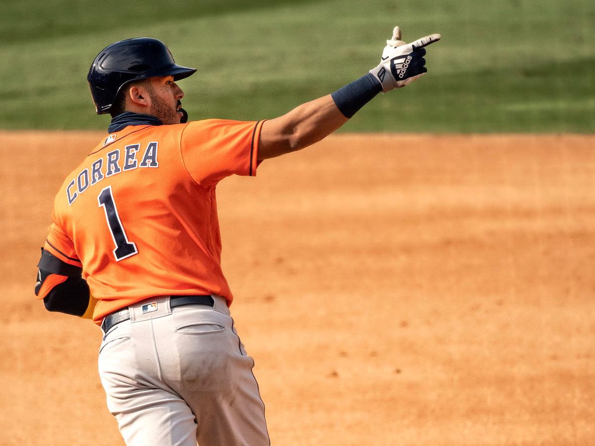 Carlos Correa celebrates