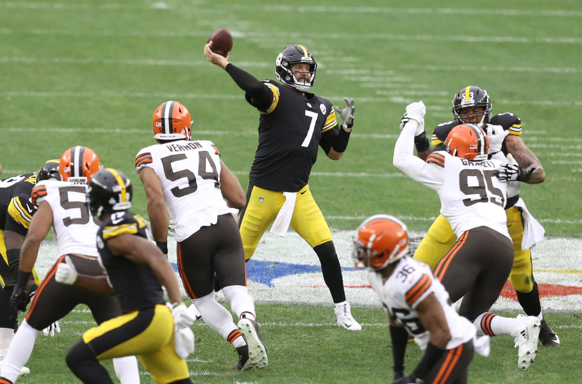 Quarterback Ben Roethlisberger is the Steelers' all-time leading passer.