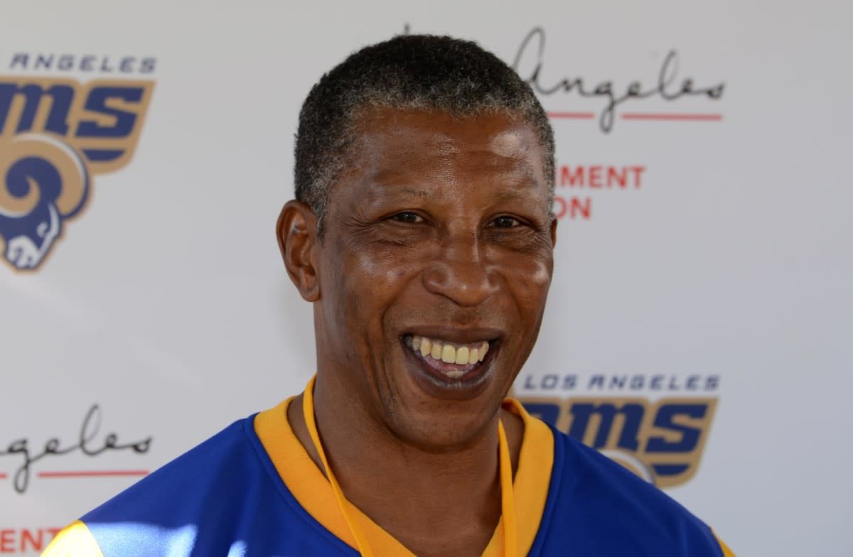 Former Rams running back Wendell Tyler smiles during an NFL All-Access event at the Los Angeles Memorial Coliseum in 2016.
