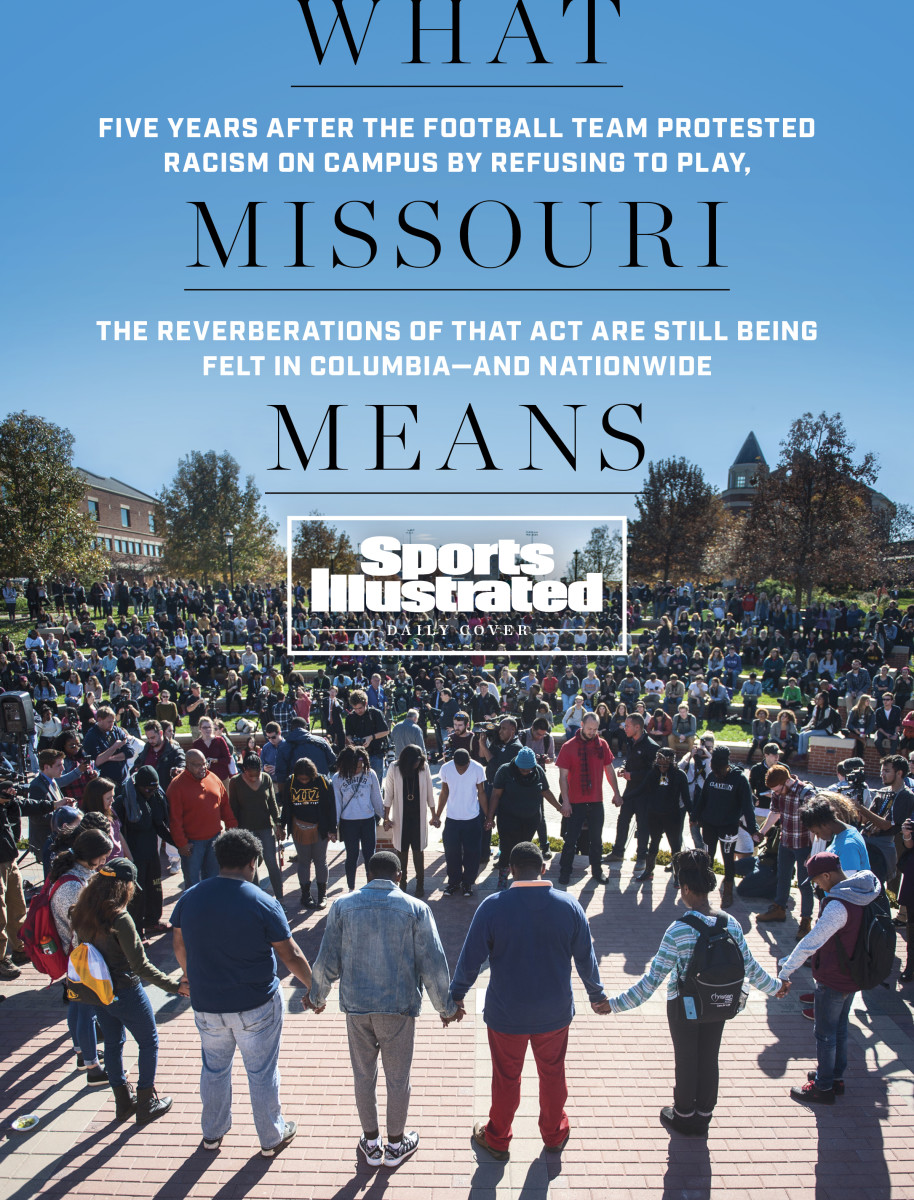 As football players refused to take the field, protesters filled Missouri's quad in 2015.