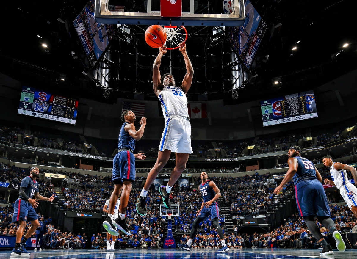 Wiseman's line included 28 points, 11 rebounds and three blocks in 22 minutes in his Memphis debut against South Carolina State last year, but he'd get to play only two more games for the Tigers.