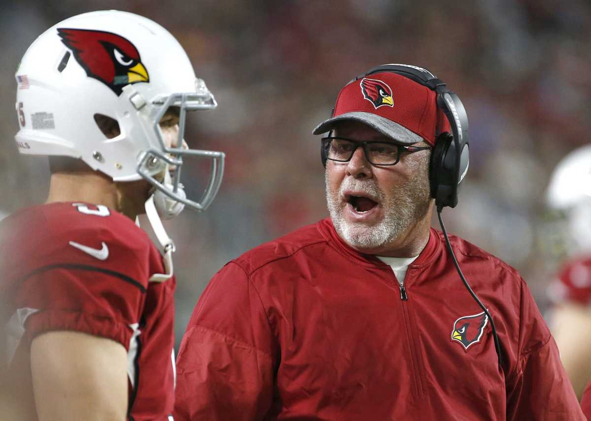 Bruce Arians had a .596 win record during his five seasons with the Cardinals.