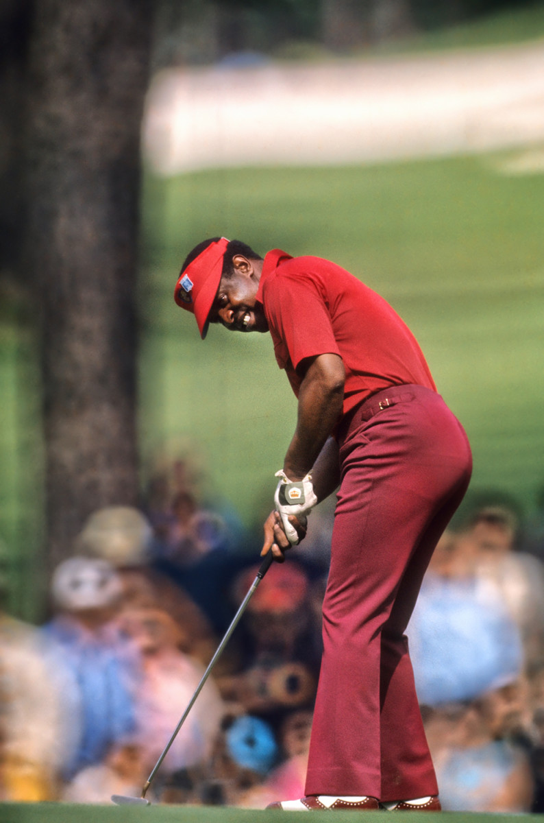 It was only in 1975 that Lee Elder became the first Black golfer to compete in the Masters.