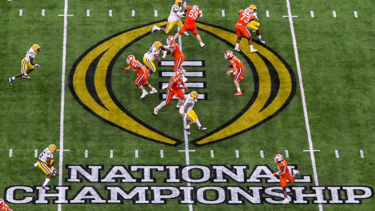 Overview of the field at January's 2020 national championship game between LSU and Clemson