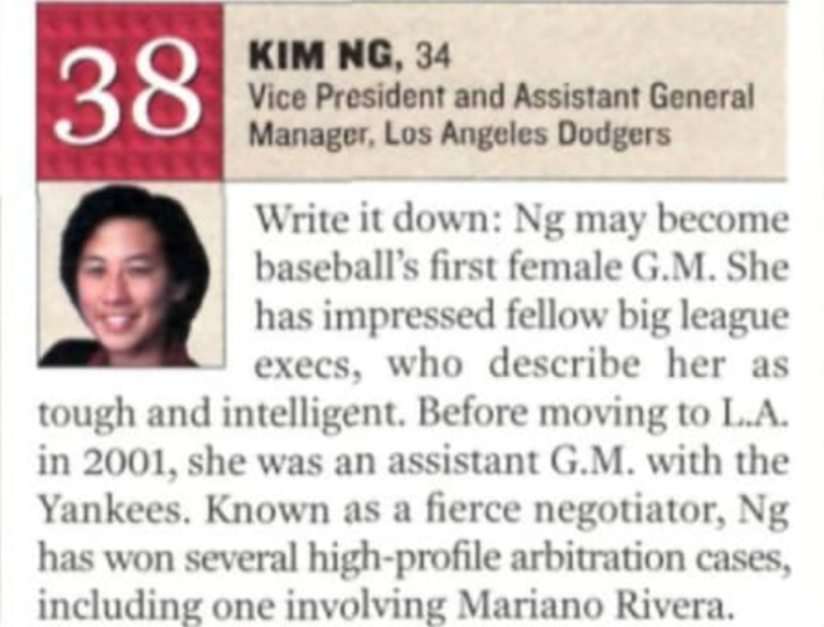 From the May 5, 2003 issue of Sports Illustrated, on the 101 most influential minorities in sports.