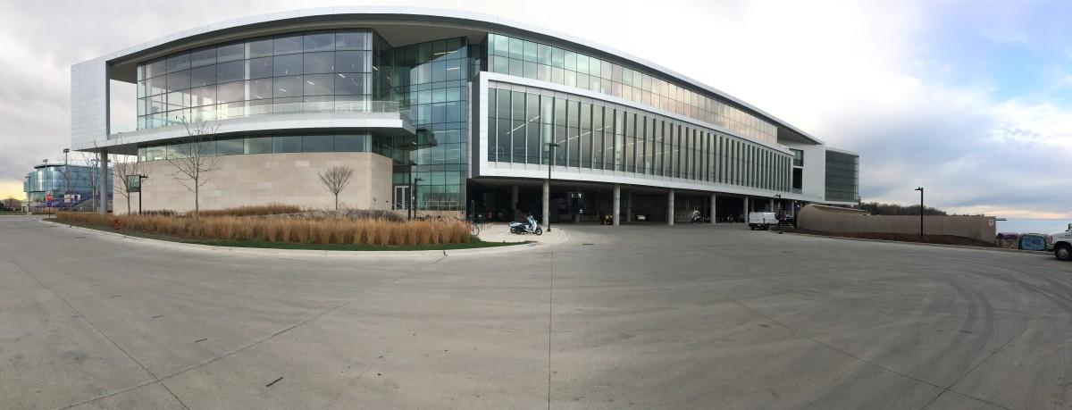 Northwestern's 2-year-old, $260 million football facility has beautiful views of Lake Michigan