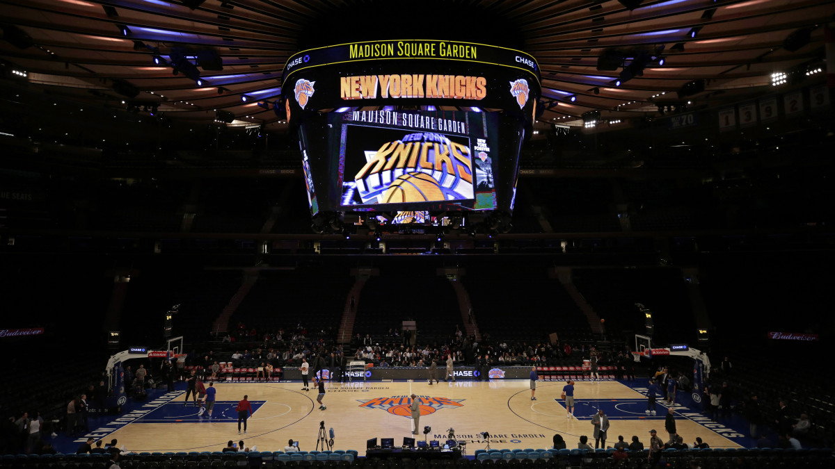 General view of Madison Square Garden before a Knicks game