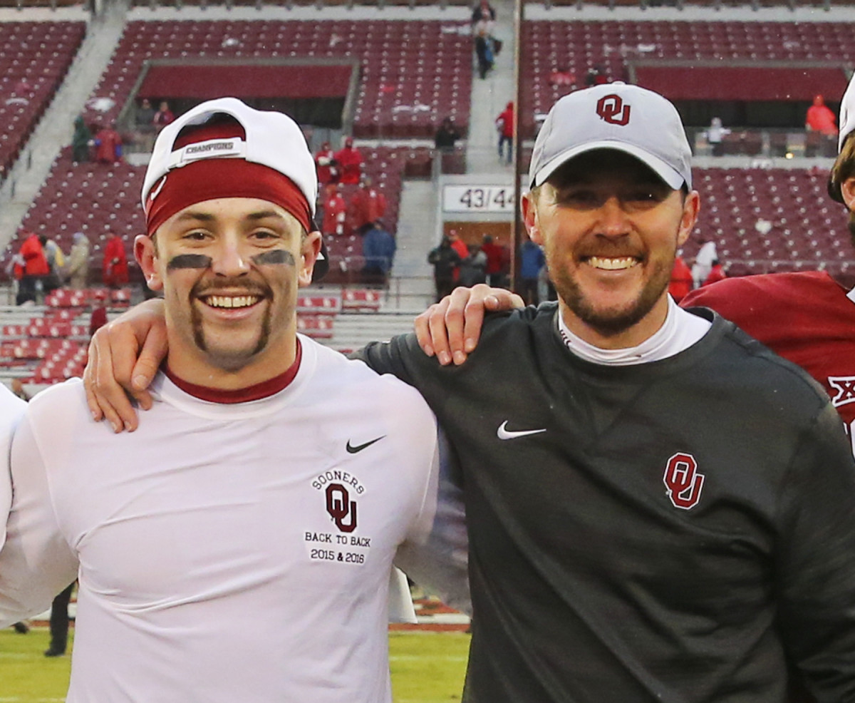 Baker Mayfield and Lincoln Riley