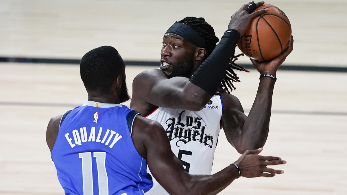 Montrezl Harrell protects the ball