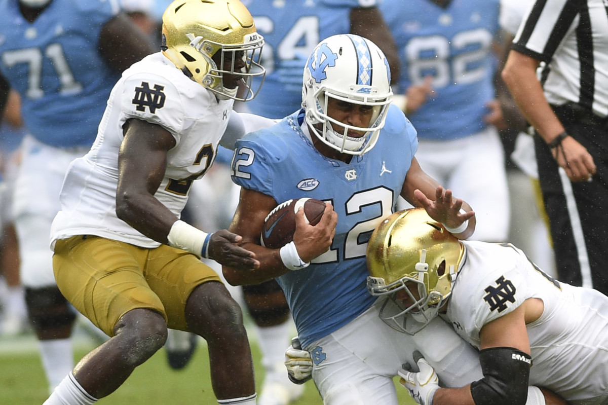 Series History: Notre Dame vs. North Carolina - Sports ...
