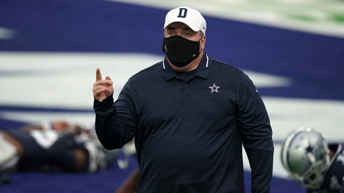 Cowboys coach Mike McCarthy before a came