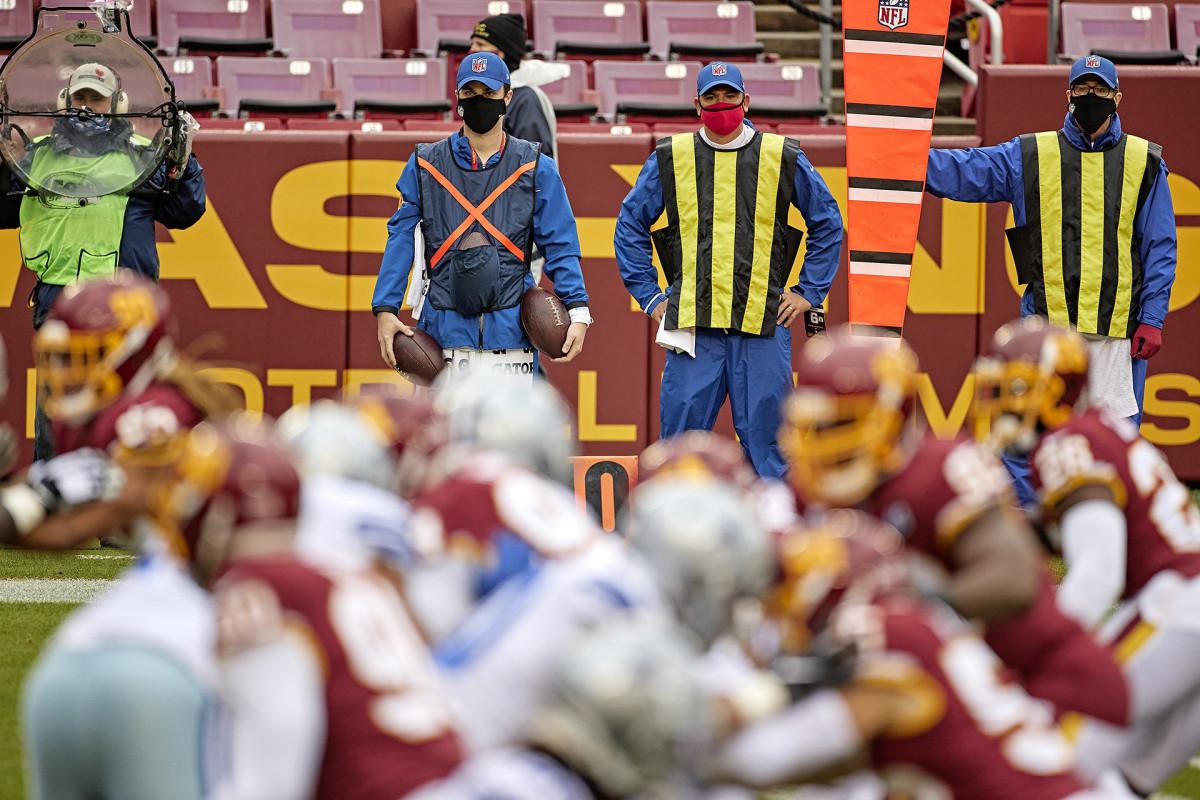 Washington Football Team's chain gang crew