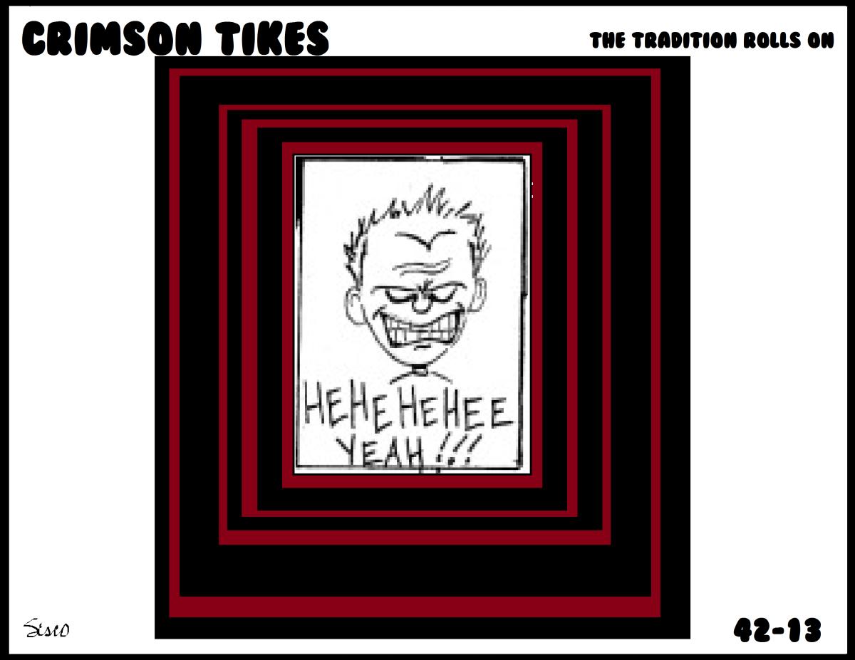 Crimson Tikes: 42-13