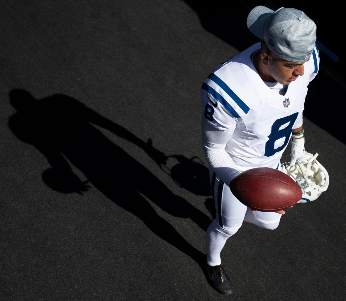 Indianapolis Colts punter Rigoberto Sanchez, shown before an October road game, underwent successful surgery Tuesday to remove a cancerous growth.