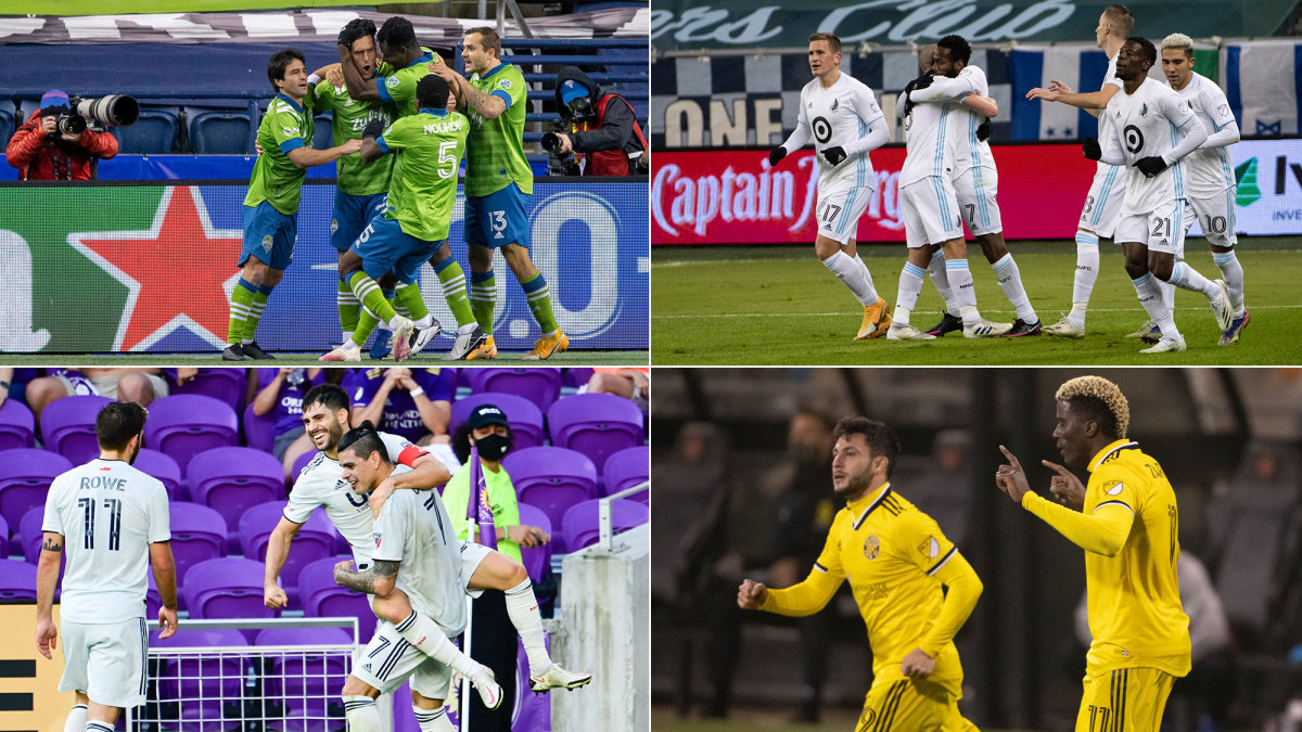 The Seattle Sounders, Minnesota United, New England Revolution and Columbus Crew are MLS's final four