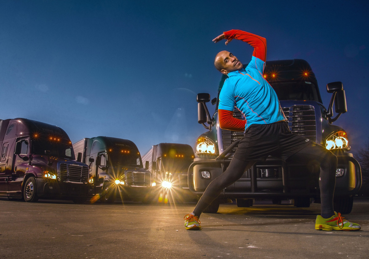 Appalled by how difficult their work is on the body, Baleka developed fitness and health programs for truckers.