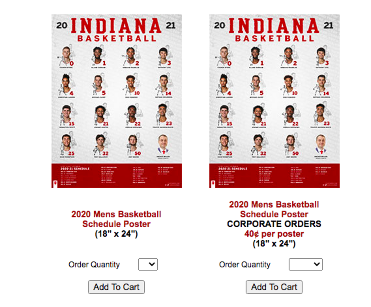 Indiana University Calendar 2022.Iconic Indiana Basketball Posters Now Available Sports Illustrated Indiana Hoosiers News Analysis And More