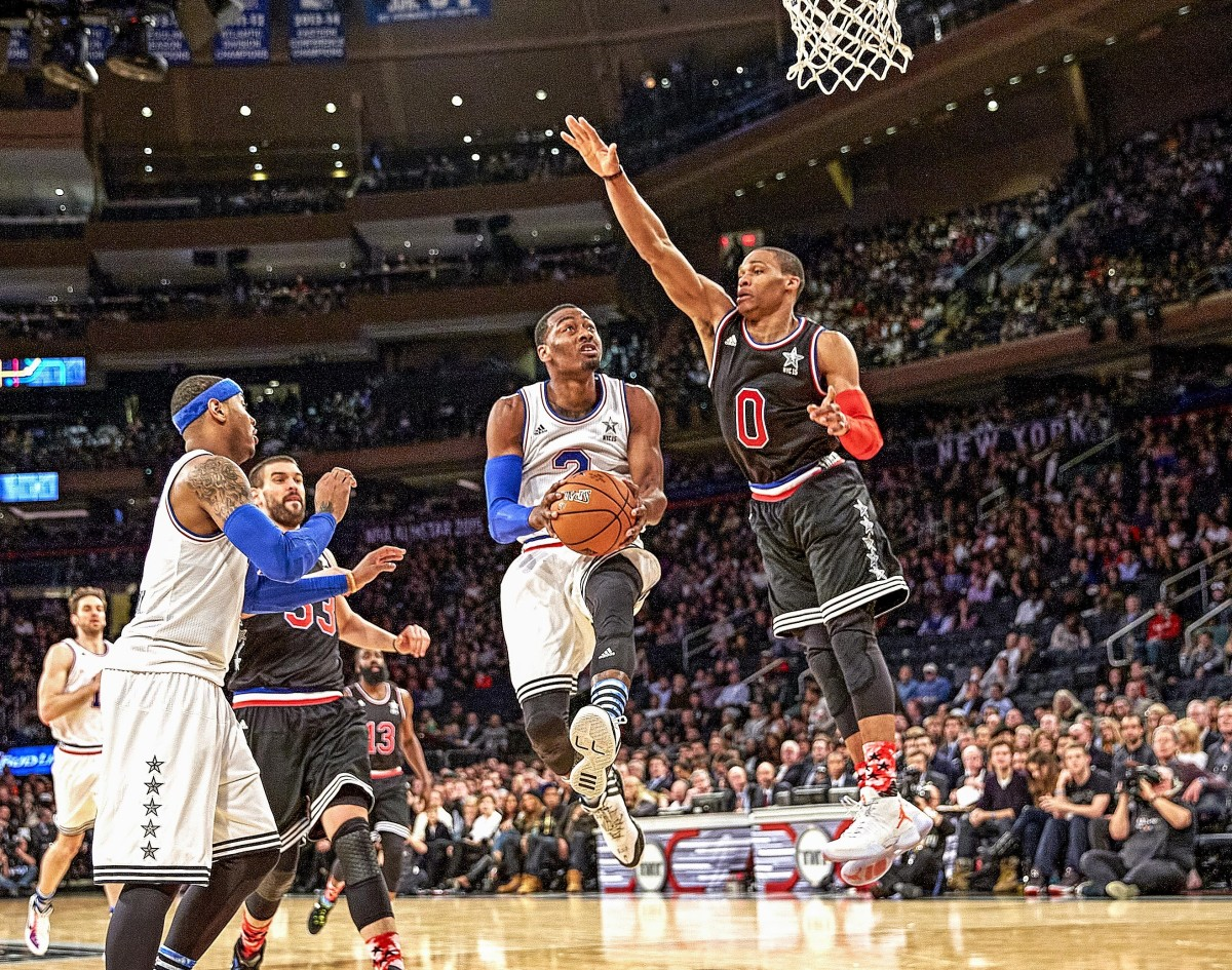 After nearly two full years on the sidelines, Wall was swapped for Westbrook, whom he faced in the 2015 All-Star Game.