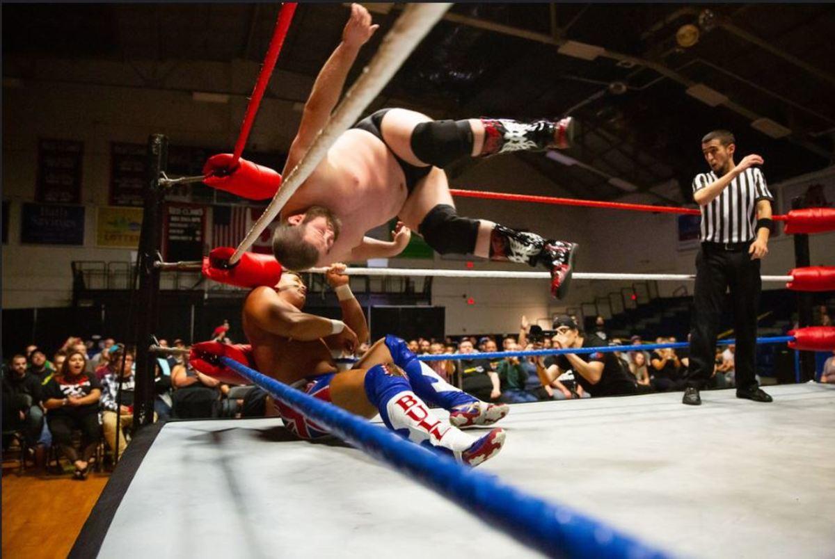 Indie wrestler JD Drake in the ring