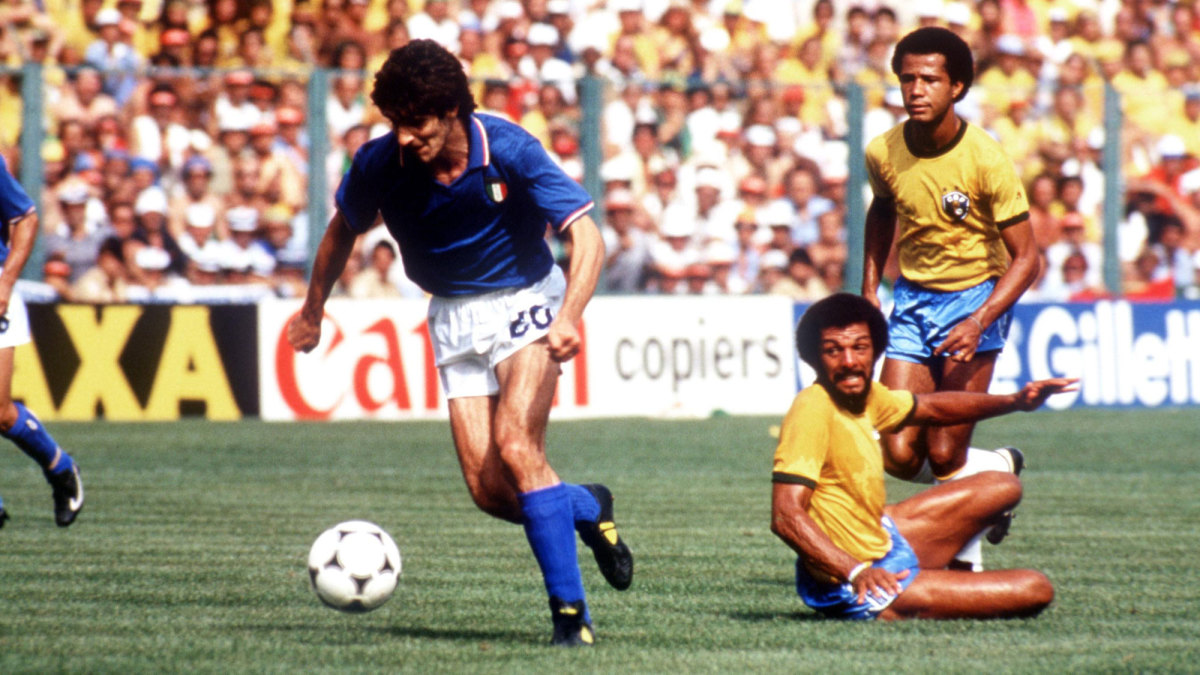 Paolo Rossi and Italy beat Brazil in the 1982 World Cup