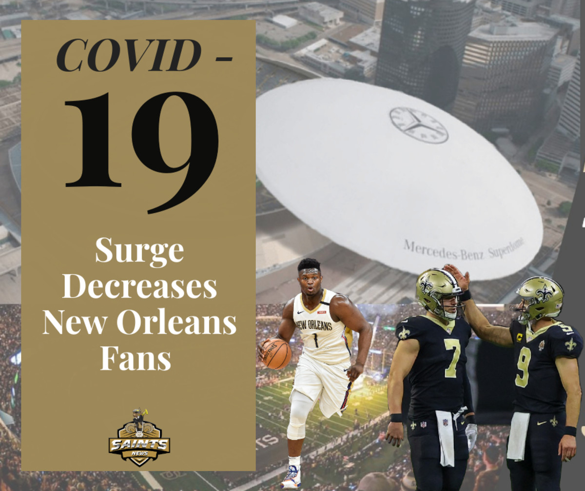 COVID-19  Surge Decrease Saints Fans
