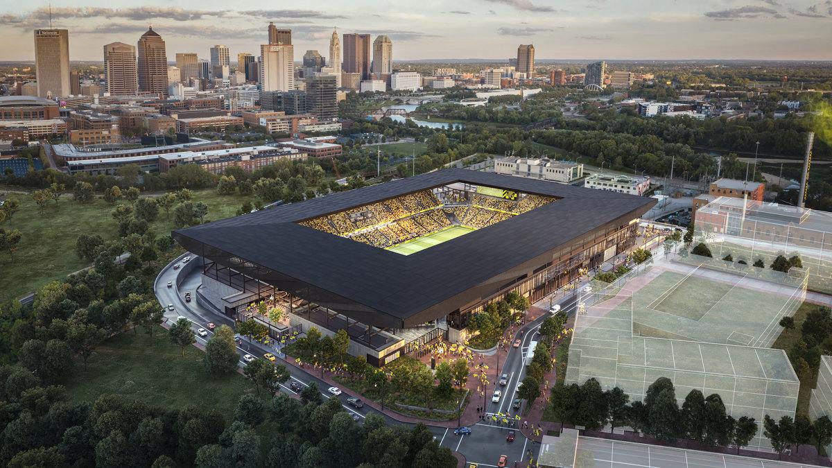 Rendering of the Columbus Crew's new stadium