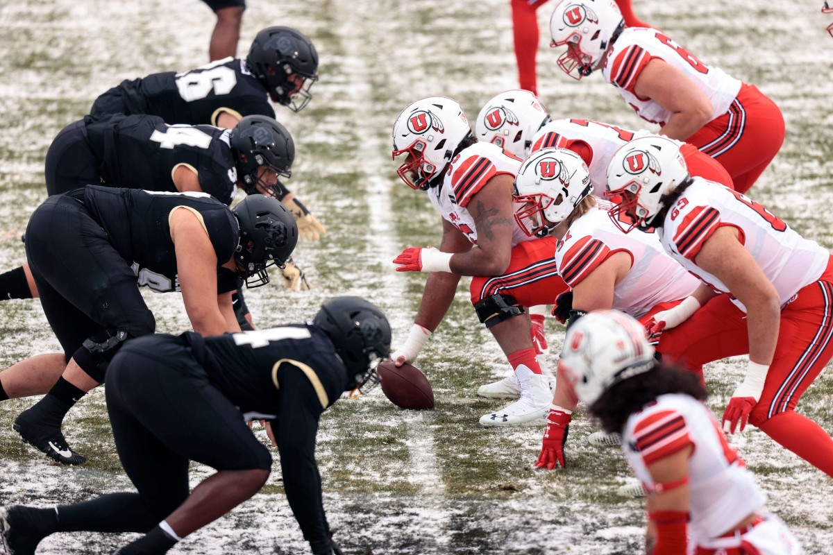 Dec 12, 2020; Boulder, Colorado, USA; Colorado Buffaloes players line up against Utah Utes players in the first quarter at Folsom Field.
